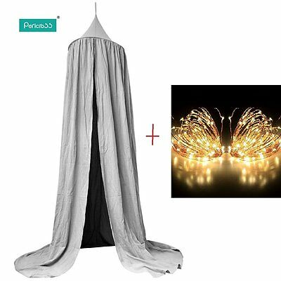 Pericross Bed Canopy for Baby Kids Reading Play Tents Cotton Canvas 220cm /Light