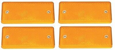 4 x Genuine Ifor Williams Orange / Amber Side Rectangle Reflector - P0696