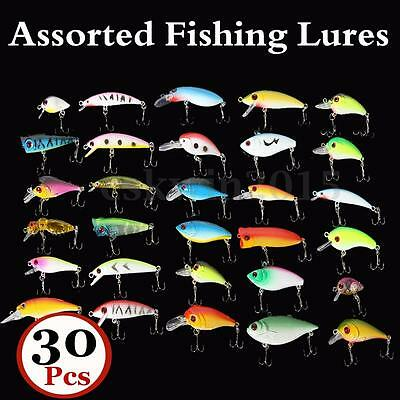 30PCS 3-6CM Esche Artificiali Per Pesca Spinning Mare Fiume Laghi Fishing Lures