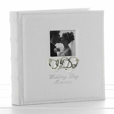 "Wedding Day Memories Photo Album 22 cm High 40 Pages Takes 5"" x 7"" 13cm x 18cm"