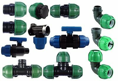 Mdpe Compression Fittings-(25Mm)-Elbow,tee,straights,all Sent From Uk