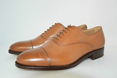 MEN-8eu-9usa-OXFORD CAPTOE-FRANCESINA-TAN CALF-VITELLO-LEATHER SOLE-SUOLA CUOIO