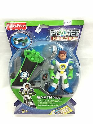 """Fisher Price Planet Heroes Earth """"Ace"""" with Bonus DVD New"""
