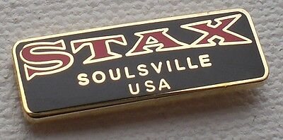 Northern Soul Badge - Stax - Soulsville Usa - Black