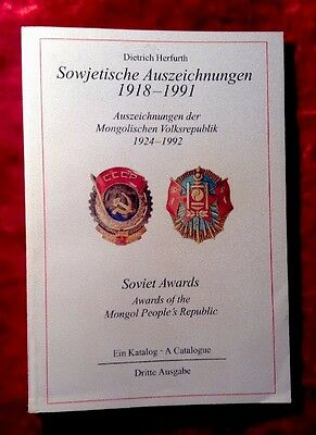 Russian Soviet Mongolian Orders Medals Awards German Reference Book