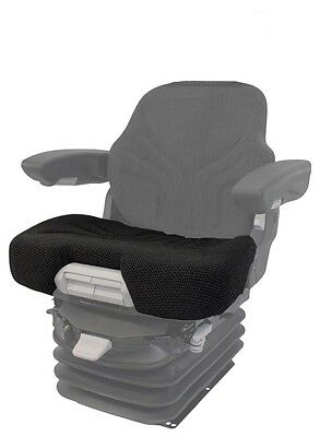 Black Fabric Seat Cushion - Fits Grammer 721, 731, 741 with Depth/Angle Controls