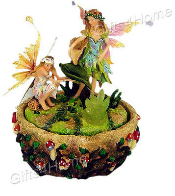 New Indoor Fairy Water Feature Fountain Fairies Ornament Home Decor Unique Gift