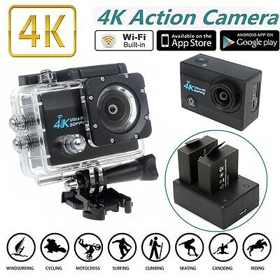 2inch 4K SJ9000 WIFI Waterproof Sport Action Camera Cam 16MP+Charger Battery