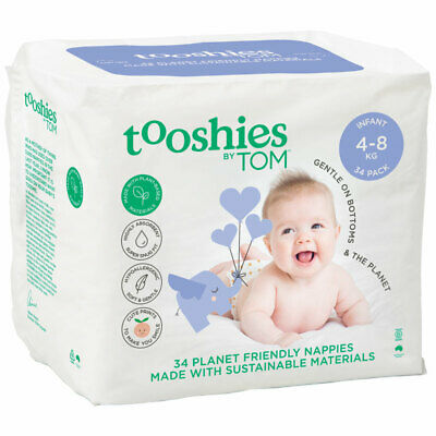 Tooshies by TOM Organic Nappies Infant 34 Pack