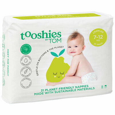 Tooshies by TOM Organic Nappies Crawler 31 Pack