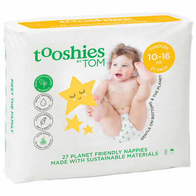 Tooshies by TOM Organic Nappies Toddler 27 Pack