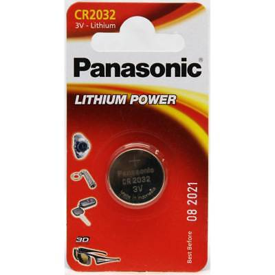 1 x Panasonic CR2032 Battery Lithium Battery 3V Button Coin Cell CR 2032 for Car