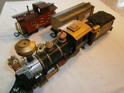 Batterie Steam Engine    - Locomotives with Tender 2 Cars  G Scale