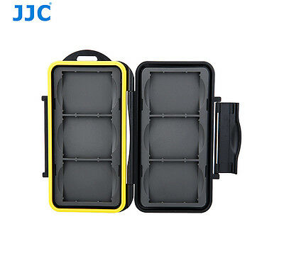 Water-Resistant Hard Storage Memory Card Case For 6 CF Compact Flash Cards JJC