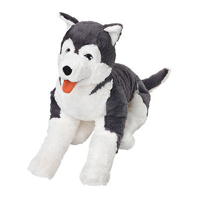 NEW IKEA LIVLIG Soft toy BIG HUSKY DOG 60 cm,  Birthday Gift Large PLUSH DOGGY