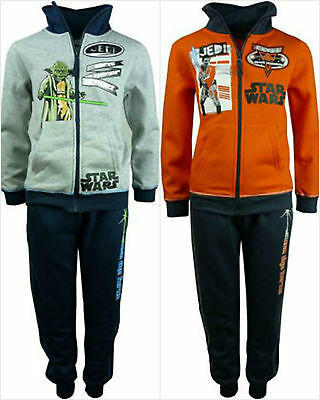 Star Wars Tracksuit Jogging Set Outfit Boys Clothing Age 3-10Y Official Disney