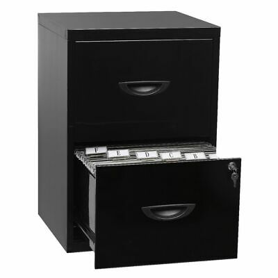 Soho 2 Drawer Filing Cabinet Black