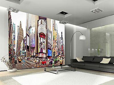 Panorama-Times Square Wall Mural Photo Wallpaper GIANT WALL DECOR PAPER POSTER