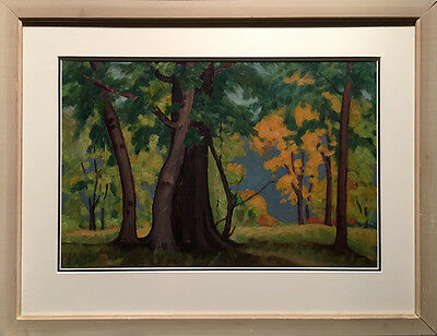 Olive Munro (Canadian) - Mid Century Landscape - Oil On Board (1951)