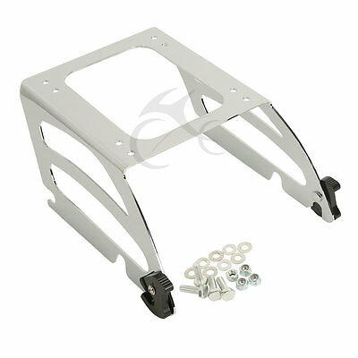 Chrome Solo Tour Pak Pack Luggage Rack Mount For Harley Softail FLST 2000-2005