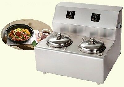220V Commercial Two Pot Rice in Clay Pot Making Machine Take-out Multiple Model