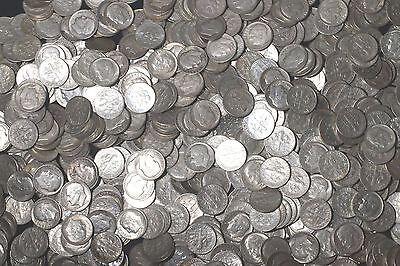 One Roll 90% Silver Roosevelt Dimes (50) 1946-1964   Lot C61