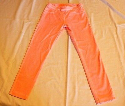 ZARA Girls leggings SMALL 6/7 Casual Collection Neon Pink NWT