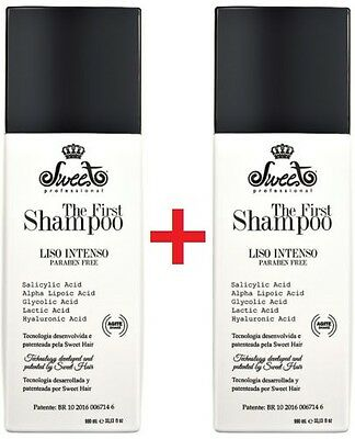 2x Sweet Hair The First Shampoo Straightener Progressive 2x980ml Free Shipping!