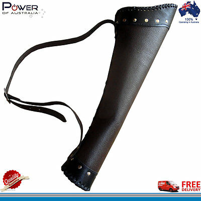 Genuine Goat Leather Back Arrow Quiver/holder Bag Archery Case Left/right Hand