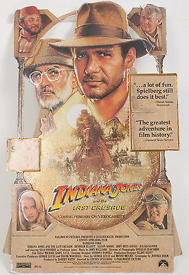 Indiana Jones And The Last Crusade Counter Stand Harrison Ford Connery Standee