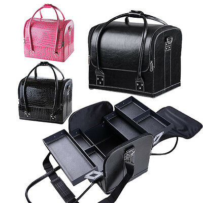 Large Space Beauty Make up Case Cosmetic Box Vanity Case Nail Tech Storage Bag