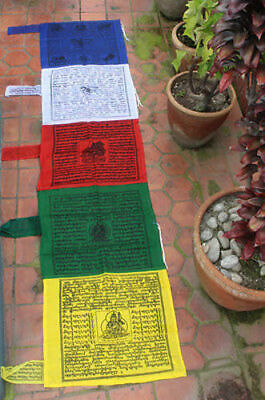 Buddhist Vertical Prayer Flag-Polyester Tibetan Flags-Garden Pole Flags-Darchor