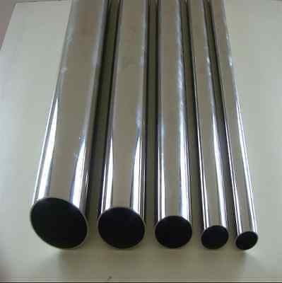 SEAMLESS STAINLESS STEEL TUBE PIPE 25mm OD x 300mm LONG 1.5mm W Mirror Finish