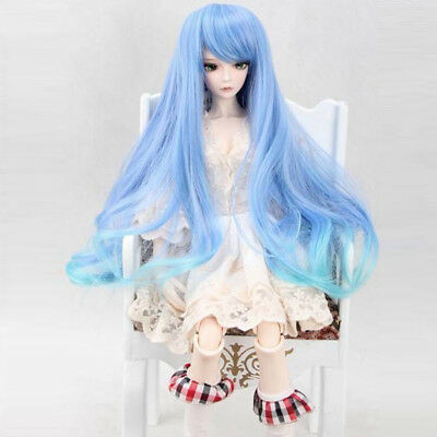 [wamami] 97# Blue Colorful Wig/Hair for 1/4 MSD DOD AOD LUTS BJD Dollfie 7-8''