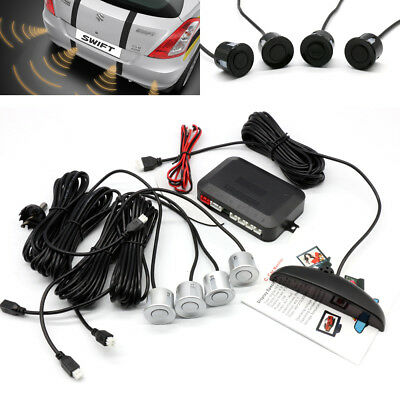 Car Van Rear Reversing Parking Backup Sensors 4 Sensor Buzzer Radar Sound Alarm