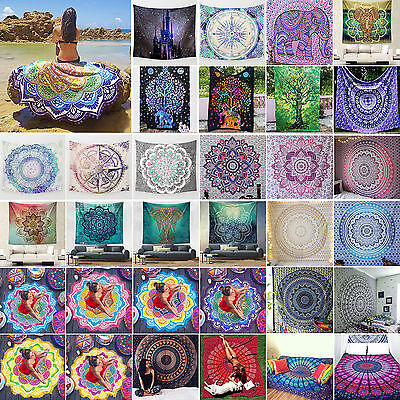 Indian Mandala Tapestry Wall Hanging Throw Hippie Bedspread Gypsy Cover Boho Rug