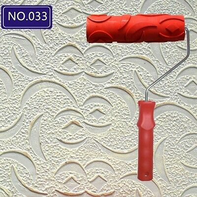 7 Inch Empaistic Pattern Wall Decoration Painting Paint Roller Tool with Handle