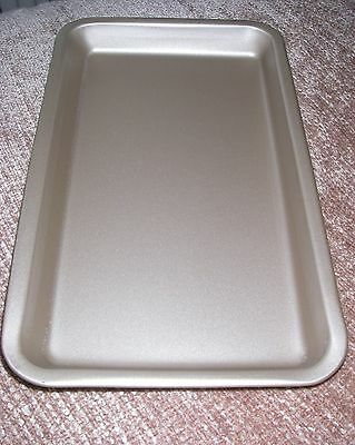 """13 """"NON STICK SWISS ROLL  HeavyBISCUIT BROWNIE BAKING TRAY TIN 13"""" x 8"""" x 1.5"""""""