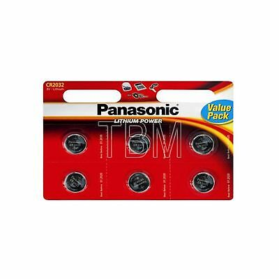 8 x Panasonic CR2032 Batteries Lithium 3V Button Coin Cell Battery 2032 DL 2032