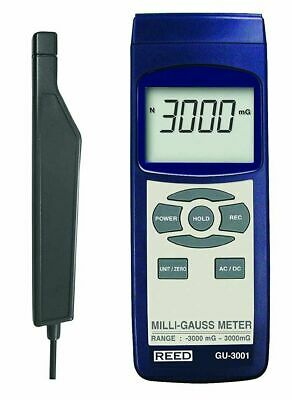 Reed GU-3001 Electromagnetic Field Meter EMF Milli-Gauss -3000mG to 3000mG AC/DC