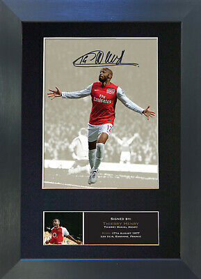 THIERRY HENRY Signed Mounted Autograph Photo Prints A4 462