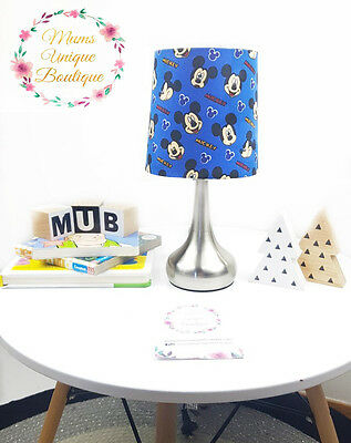 Mickey Mouse Blue Baby Children Nursery Table Lamp Night Light Touch Lamp