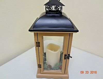 Decorative Lantern w/ Flickering LED Candle 966560