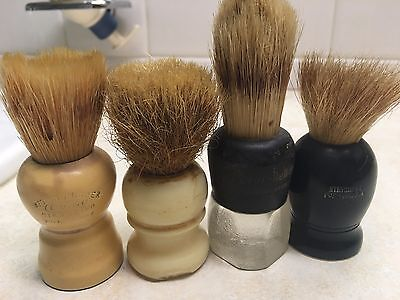 Lot of 4 Vintage Shaving Brushes - Eveready - Century