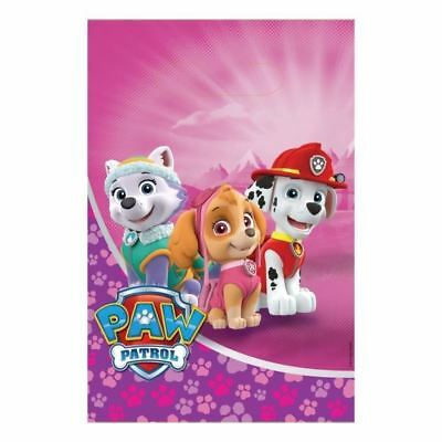 Paw Patrol Pink Plastic Loot Bags 8 Pack Childrens Birthday Party Favours