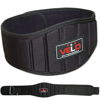 VELO Weight Lifting Belt Gym Training Back Support Neoprene Fitness Lumber
