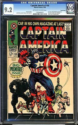 Captain America #100 CGC 9.2 Suscha News Pedigree