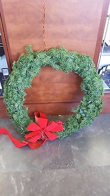 Large Christmas Holiday Wreath Red Bow