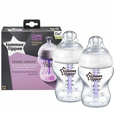 Tommee Tippee Anti Colic Baby Feeding Bottles Advanced Comfort Infant BPA Free
