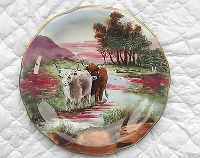 Coronaware S Hancock & Sons Handpainted Plate/cows/Cattle in a field/stream 902